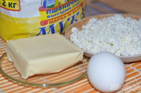 Печенье Ракушки с творогом: продукты