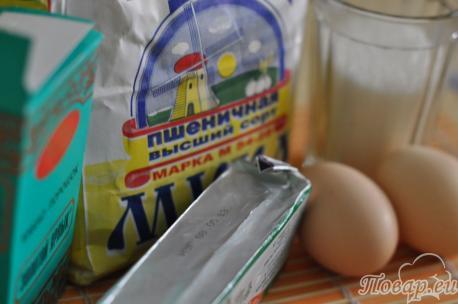 ингредиенты для приготовления песочного печенья Улитка
