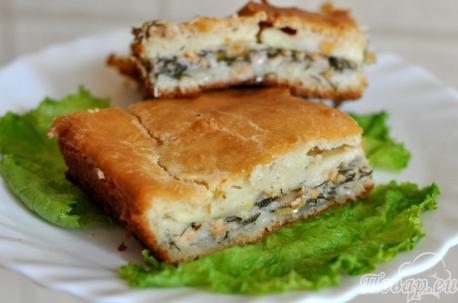 Пирог из рыбных консервов с картофелем