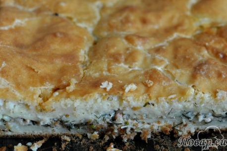 Пирог из рыбных консервов: готовый пирог