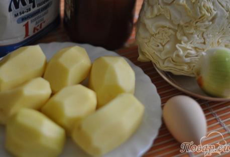 Пирожки из картофельного пюре с начинкой: ингредиенты