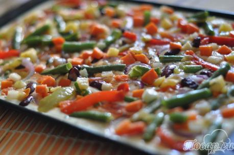 Начинка для пиццы быстрого приготовления в духовке