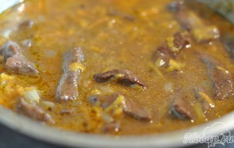 Поджарка из говядины: готовое блюдо