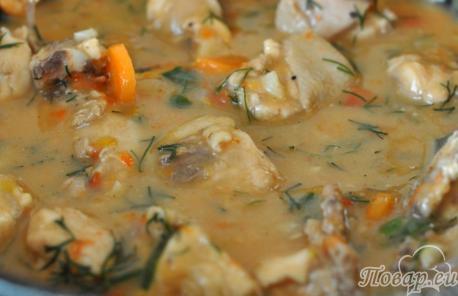 Подлива к гарниру: готовое блюдо