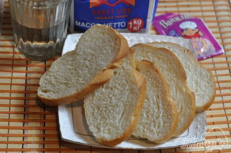 Постные гренки из белого хлеба: продукты