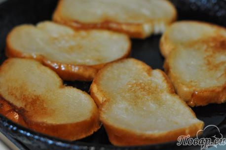 Постные гренки из белого хлеба: на сковороде