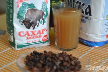 ингредиенты для постных кексов на фруктовом соке