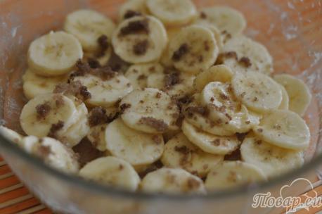 приготовление бананового десерта в духовке: шаг 3