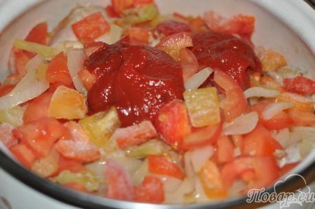 приготовление чахохбили: овощи
