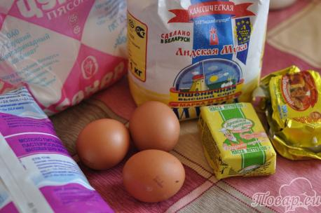 ингредиенты для приготовления дрожжевого теста для выпечки