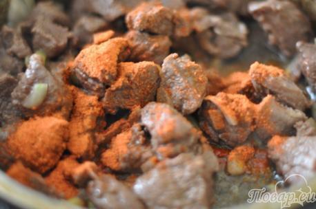 Пряности для приготовления гуляша из говядины