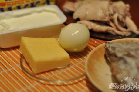 ингредиенты для приготовления жульена с грибами