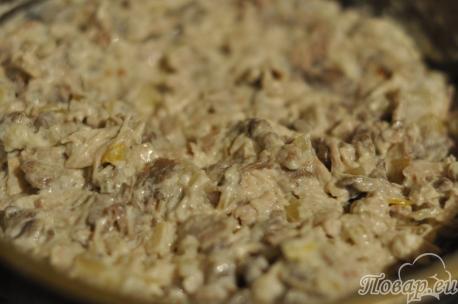 Приготовление жульена с грибами: шаг 2