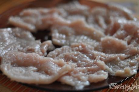 Пласты филе для приготовления отбивных из курицы