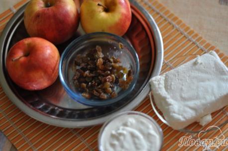 продукты для приготовления печёных яблок в духовке
