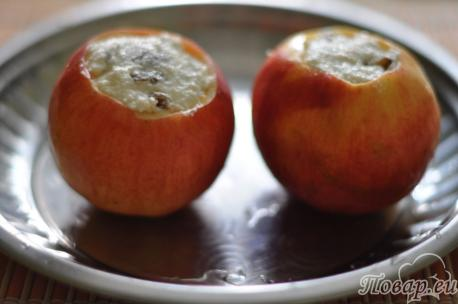 Приготовление печёных яблок в духовке с начинкой