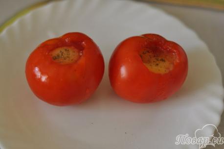 Яйцо в помидоре для приготовления яичницы в помидоре
