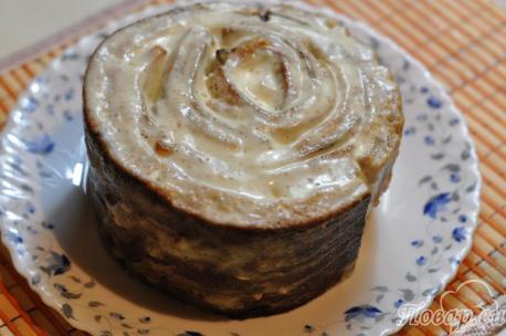 Рецепт торта Трухлявый пень: рулет
