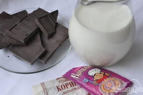 Рецепт домашнего горячего шоколада: продукты