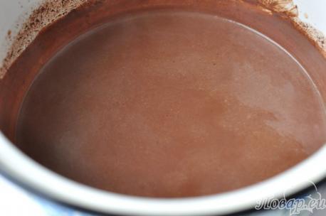 Рецепт домашнего горячего шоколада: шаг 2