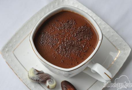 Рецепт домашнего горячего шоколада: готовый десерт