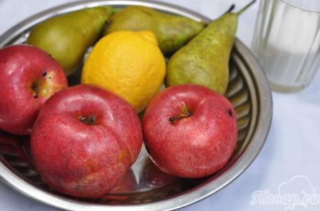 Рецепт фруктов в сиропе: продукты