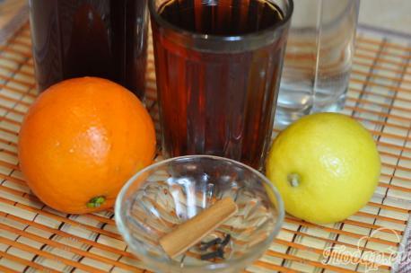 Рецепт фруктового чая: продукты