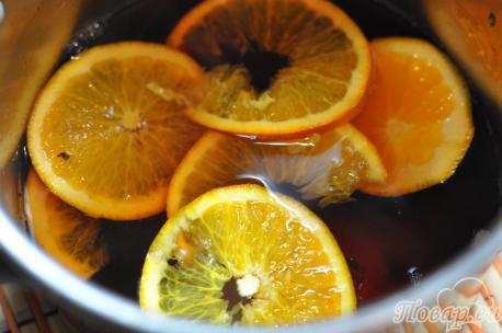 Рецепт фруктового чая: апельсины