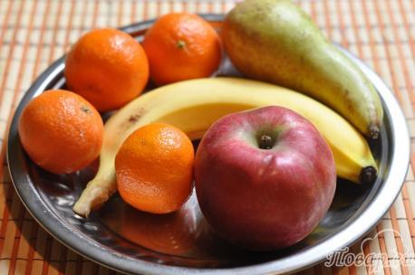 Рецепт фруктового салата: фрукты