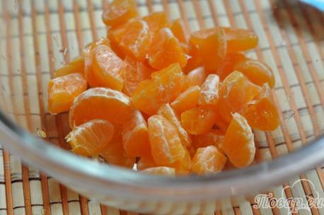 Рецепт фруктового салата: мандарины