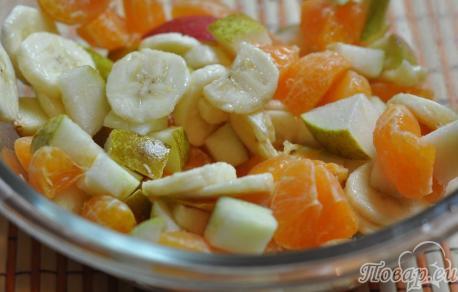 Рецепт фруктового салата: готовый салат
