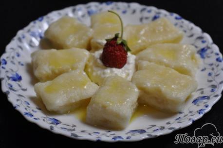 Рецепт приготовления галушек яблочных