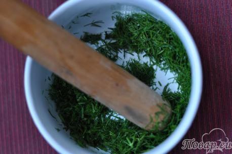 Зелень для рецепта холодника