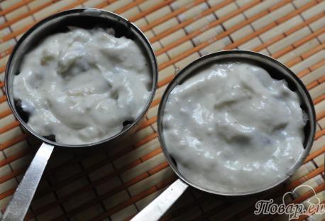Рецепт жульена из грибов: сметанный соус