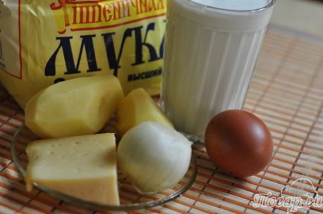 Рецепт картофельных блинов: продукты