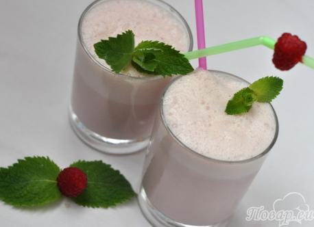 Рецепт малинового коктейля: готовый напиток
