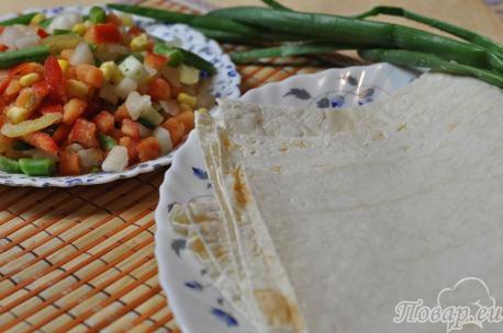 Рецепт овощей в лаваше: продукты