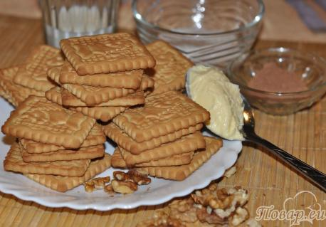 Рецепт пирожного Картошка: продукты