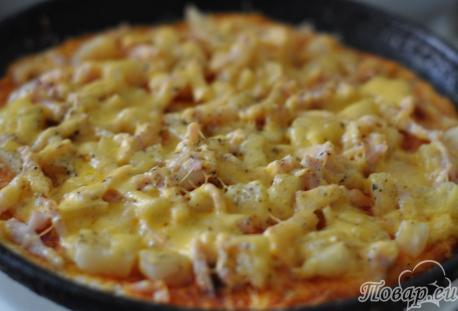 Рецепт пиццы по-гавайски: готовое блюдо