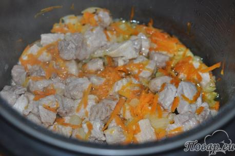 Рецепт плова в мультиварке: мясо с овощами