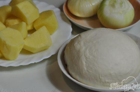 Рецепт постных вареников с картошкой: продукты
