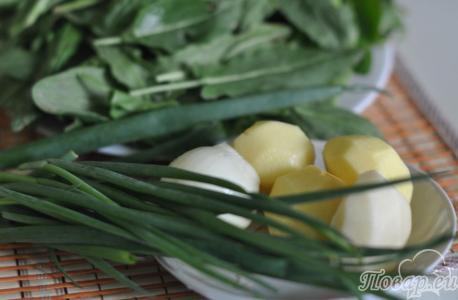 Рецепт щей из щавеля: продукты