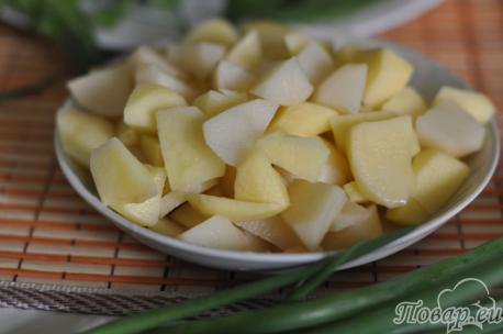 Рецепт щей из щавеля: картофель