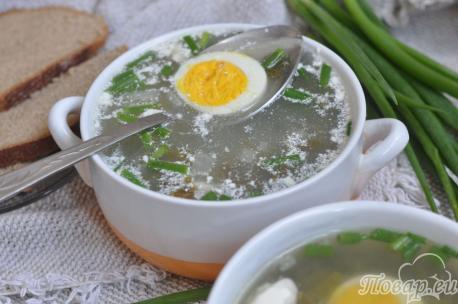 Рецепт щей из щавеля: готовое блюдо