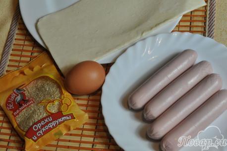 Рецепт сосисок в тесте: продукты