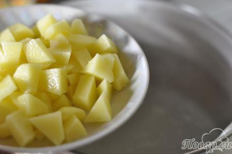 Рецепт сырного супа: картошка