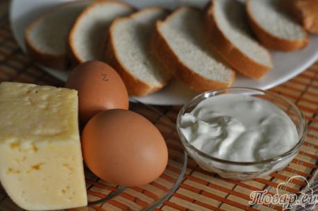 Рецепт сырных гренок: продукты