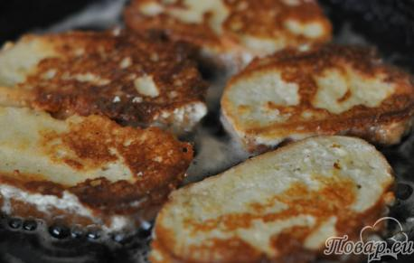 Рецепт сырных гренок: готовое блюдо