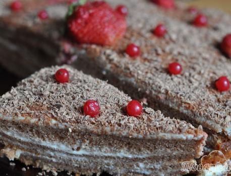 Рецепт торта Космос: посыпка готового торта