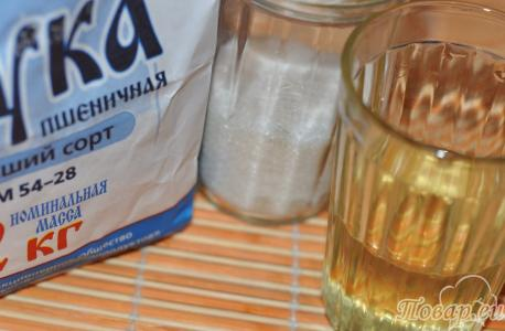 Рецепт вафельных трубочек: продукты